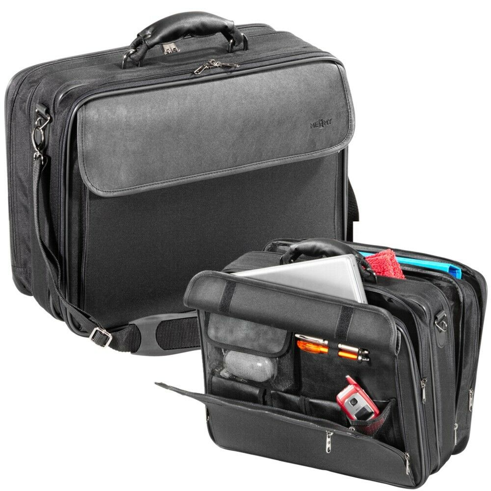 XL Notebooktasche Notebook Tasche Laptoptasche Schwarz bis 17 Zoll Overnightfach