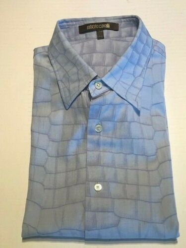 $995 Roberto Cavalli Alligator Print Button Down S