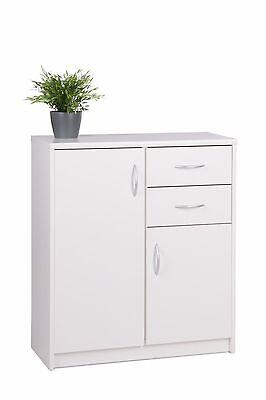 Sideboard Kommode ISCA 2 Konsole Anrichte Büroschrank Badschrank in Weiß