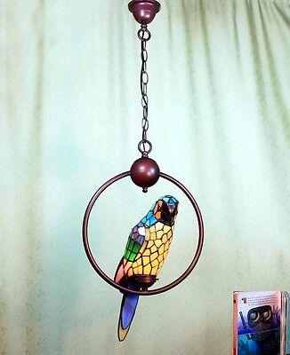 Tiffany Büro Ara Papagei Vogel Tiffanylampe Decken Lampe Hängelampe GN224