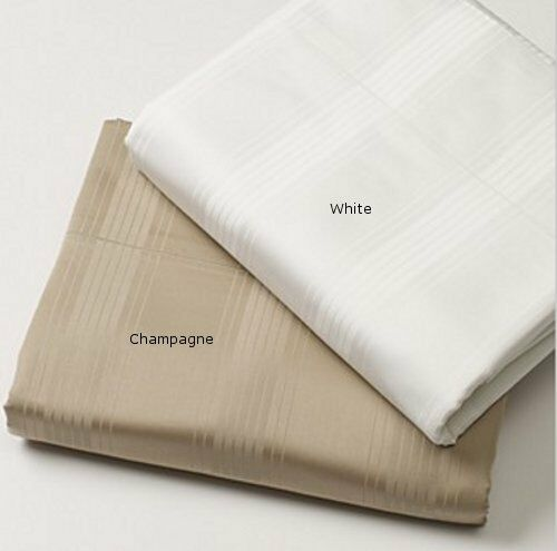Hudson Park 700 TC Queen Sheet and or Pillowcases  200 &  110 Weiß   Champagne