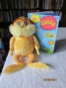 "lot of Kohl's Cares LORAX Dr. Seuss 2005 14"" Plush,recycled Hardback"
