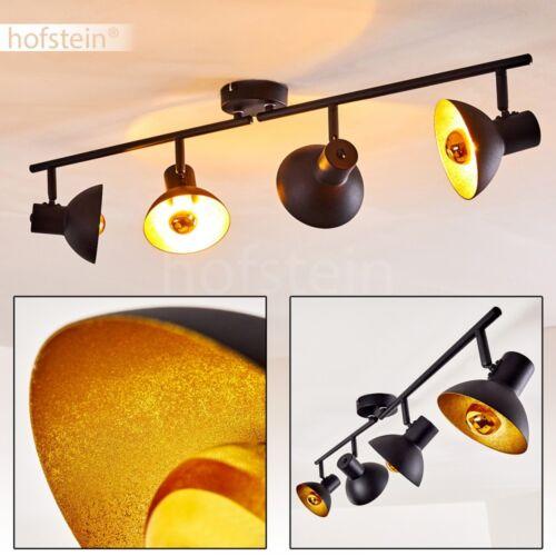 Retro Decken Schlaf Wohn Raum Lampe verstellbare Flur Leuchten Spot schwarz gold