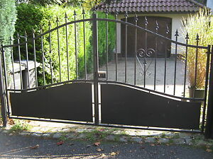 doppelfl geltor gartentor einfahrtstor hoftor metalltor gate 300 x 175 135 cm ebay. Black Bedroom Furniture Sets. Home Design Ideas