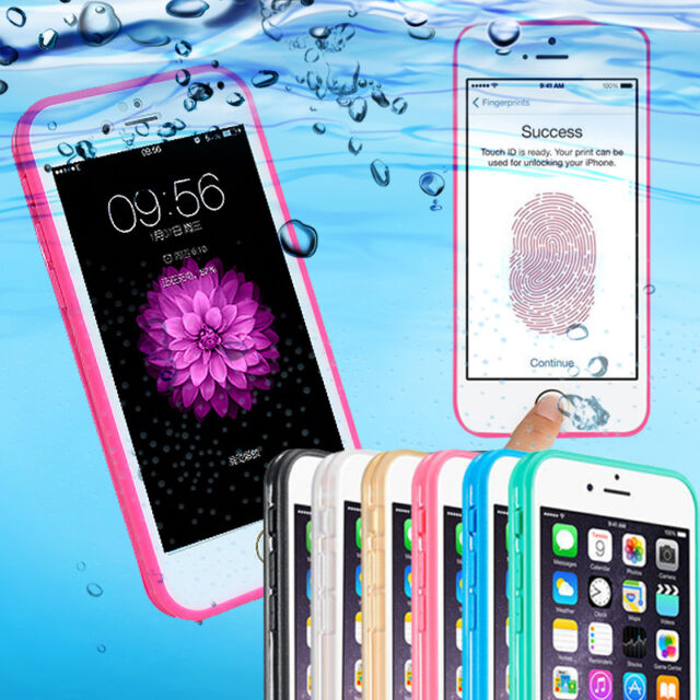iPhone6 6s Plus Slim Waterproof Case Full Body Shockproof Cover+Screen Protector