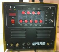 Super200p Plasma Cutter Tig Arc Ac/dc Welder Pulse & Foot Pedal Cal Electric