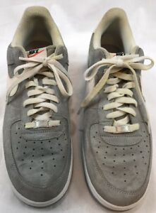 4fd7f272 Nike Air Force 1 SUEDE PACK WOLF GREY WHITE Shoes 488298-065 Mens ...