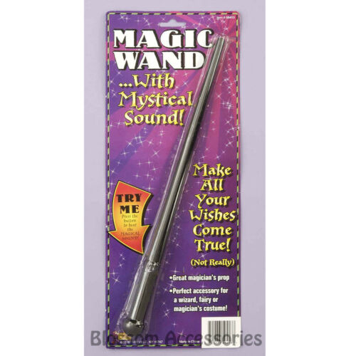 A972 Magic Wand with Sound Magician Warlock Wizard Fairy Witch Clown Accessory