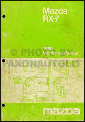 1980 Mazda RX-7 Shop Manual RX7 80 Original Repair Service Book OEM