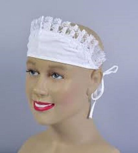 French Maid Hat White Victorian Downton type  Fancy Dress ADULT OR CHILD
