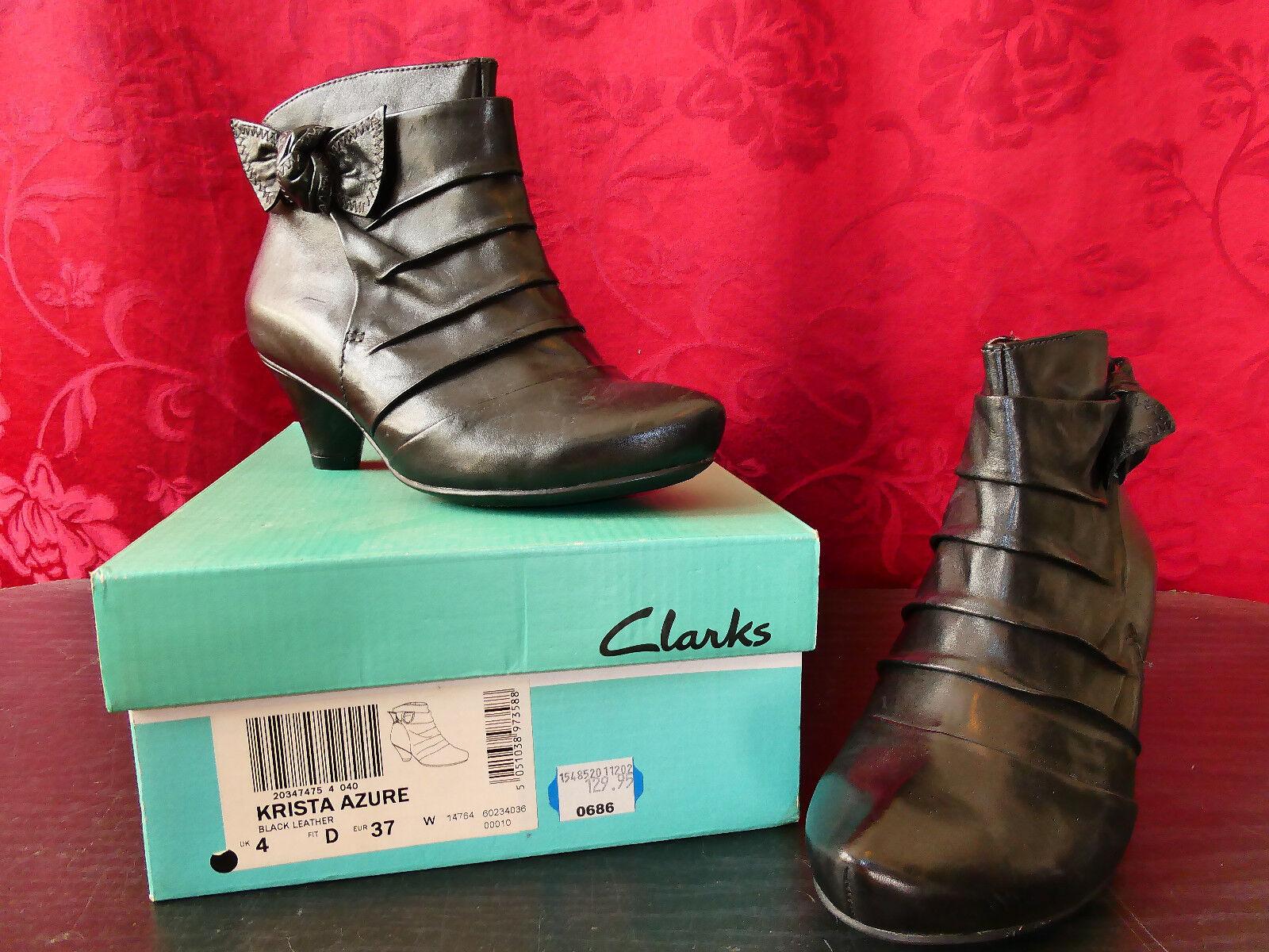 Clarks Damenschuhe/Stiefelette, Schwarz, Günstige und gute Schuhe