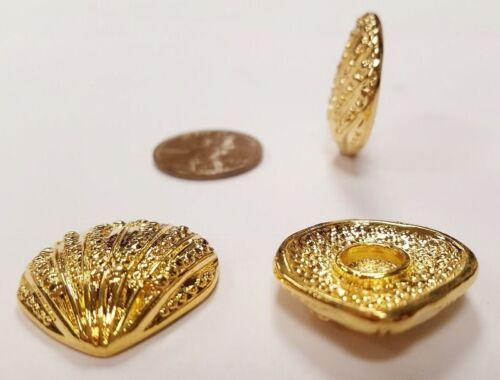 Clam Shell Cabochon Finding   E266 1 Retro Gold Seashell 24x23mm