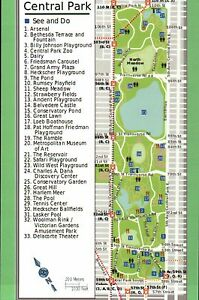 Map Of Central Park Manhattan New York City Zoo The Pool Carousel