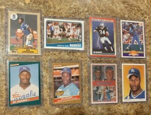 (8) Bo Jackson 1986 Donruss 1987 Topps Sportflics Rookie + Card lot RC 1988 FB