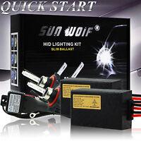 AC 35W 55W Xenon HID Light Conversion KIT QUICK START H1 H3 H4 H7 H9 5000k 6000k