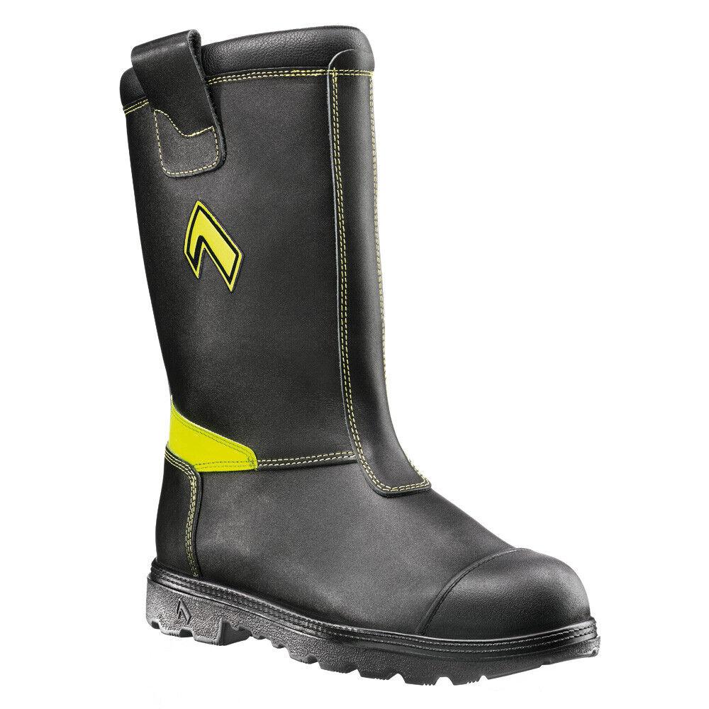 Haix Bombero Negro Slip Pull en Puntera De Seguridad Impermeable botas De Trabajo Bombero