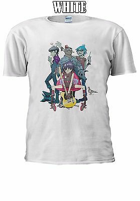 Gorillaz Gruppo Rock Alternative Essex T-shirt Canotta Canottiera Uomini Donne Unisex 2446-mostra Il Titolo Originale
