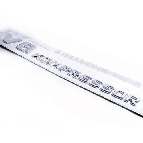 chrome Side Fender Sticker Emblem Badge V8Kompress For All Mercedes-Benz 1PC