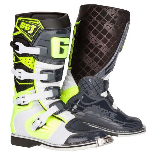 GAERNE KIDS Motocross Stivali SG-J BIANCO//GIALLO NEON//Grigio
