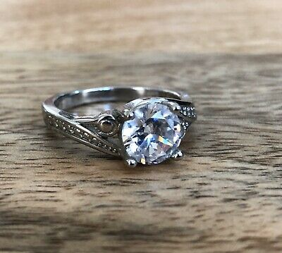 Cubic Zirconia Ring from JewelScent Candle Silver Crystal ...