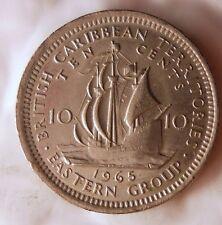 1965 EAST CARIBBEAN 10 CENTS - Excellent Vintage Coin - BARGAIN BIN #157