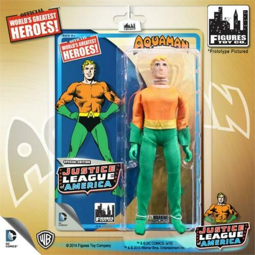 DC Comics Justice league worlds Greatest Hereos 8/'/' figures Kresge Mego style