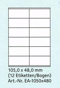 2400 Etiketten 64,3x33,8 Größe 100 Blatt DIN A4