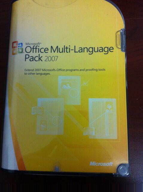 Microsoft Office 2007 Multi Language Pack Retail License Media 1 Computer S Full Version For Windows 79h 00001 Ebay