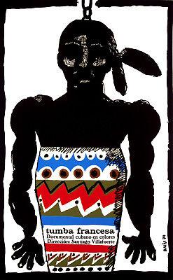 Drum Art Decor.1513 Cuban POSTER.Stylish Graphics.Tumba Francesa.Black