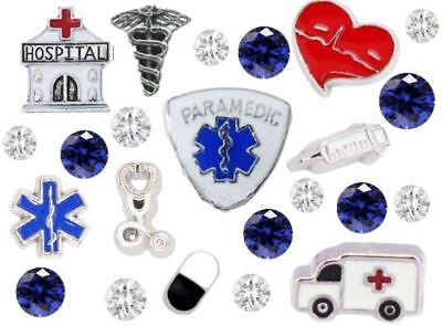 Firefighter Police EmergencY   Fits Origami Owl Ambulance Emt Paramedic Doctor