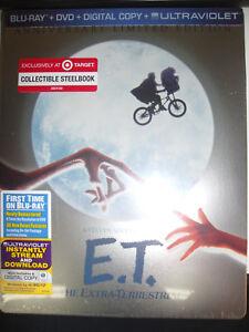 ET-Blu-Ray-SteelBook-Target-Exclusive-Extra-Terrestrial-Anniversary-SEALED-New