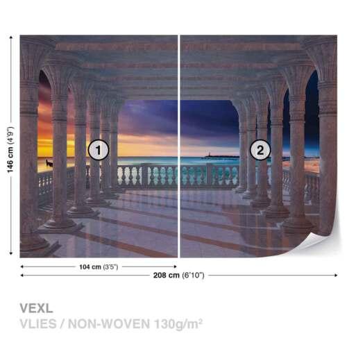 1368WS WALL MURAL PHOTO WALLPAPER XXL Sea View Through The Arches