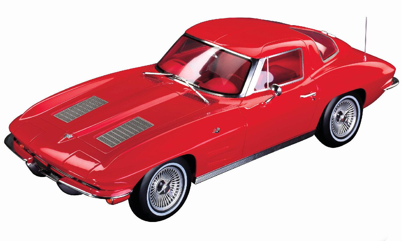 Corvette 1963-sólo año para la ventana dividida - 1 12 Rojo Riverside