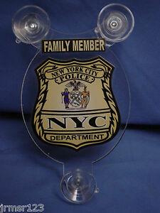 NYC-NEW-YORK-CITY-POLICE-FAMILY-MEMBER-CAR-SHIELD-PBA-FOP-DEA