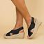 Womens-Wedge-Platform-Sandals-Ankle-Strap-Slingback-Peep-Toe-Summer-Shoes-Size thumbnail 9