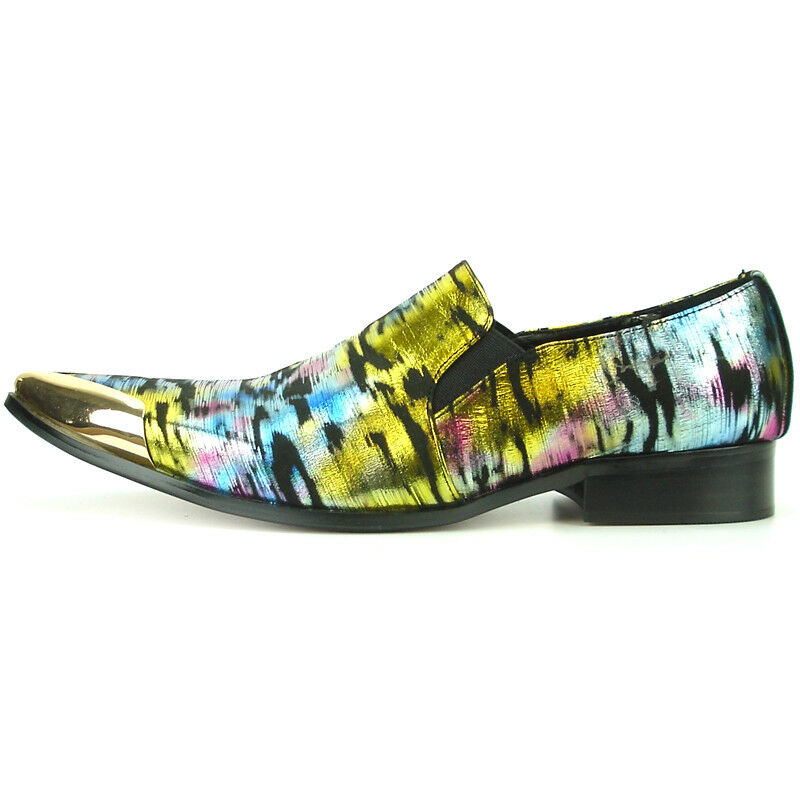 FI-7150 FI-7150 FI-7150 Multi Color Gold Slip on Loafer Fiesso by Aurelio Garcia Metal tip 1c6ab3