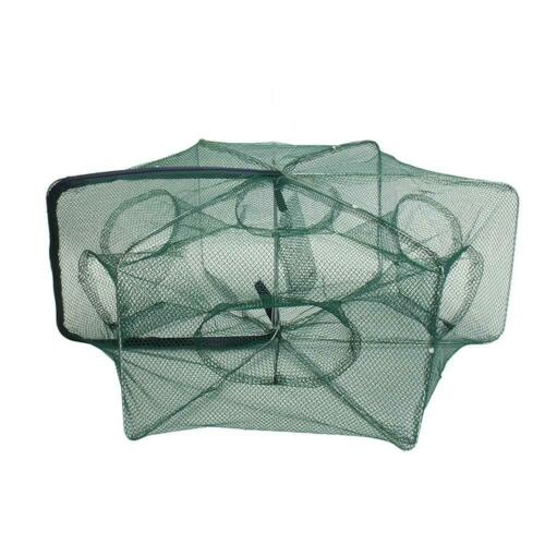 Automatic Folding Fishing Net Shrimp Crab Fish Trap Cast Umbrella Type Cage Nets