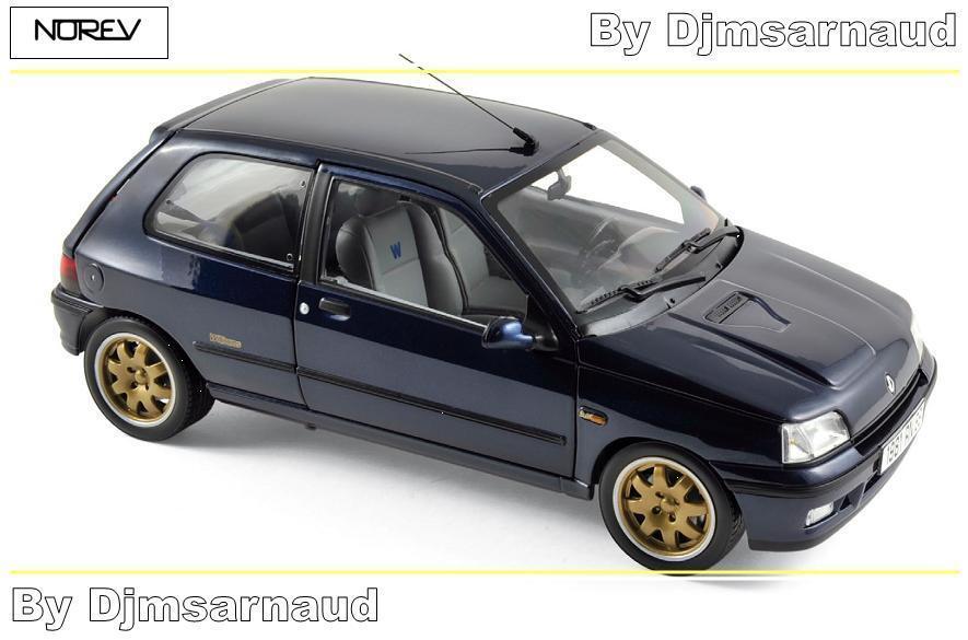 Renault Clio Williams de 1993 bleu NOREV - NO  185230 - Echelle 1 18  économiser 35% - 70% de réduction