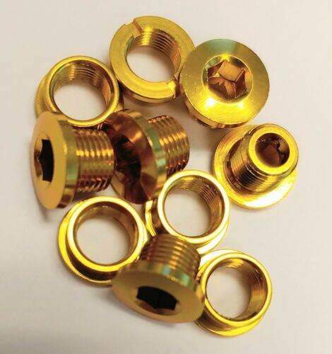 MCS ALLOY CHAINRING BOLT FOR SINGLE CHAINRING BMX GOLD