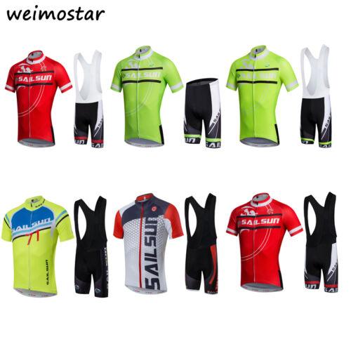 2017 Mens Cycling Jersey set MTB Team Bike Ropa Ciclismo Short Sleeve Sportswear