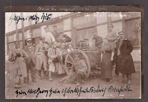 FIELD-KITCHEN-WW1-GERMAN-CORP-REGIMENT-SOLDIERS-ANTIQUE-PHOTO-POSTCARD
