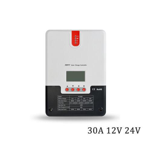 20A 30A 40A 60A 12V//24V or 36V//48V MPPT solar charger controller AGM GEL lithium
