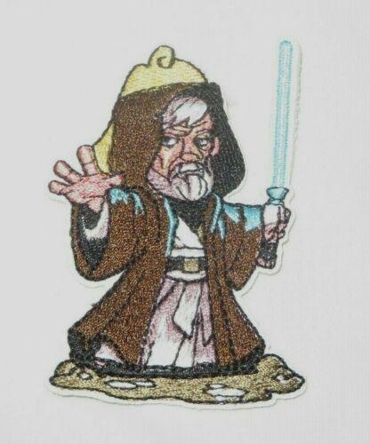 """Star Wars Obi Wan Kenobi W// Lightsaber 3.25/"""" Tall x  2.5/"""" Wide Iron On Patch"""