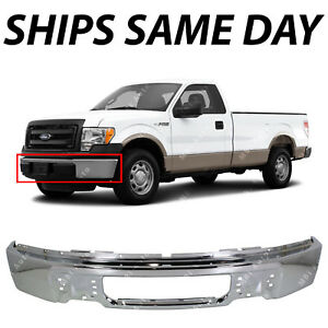 NEW Steel Chrome Front Bumper Face Bar for 2009-2014 Ford F150 09 10 11 12 13 14