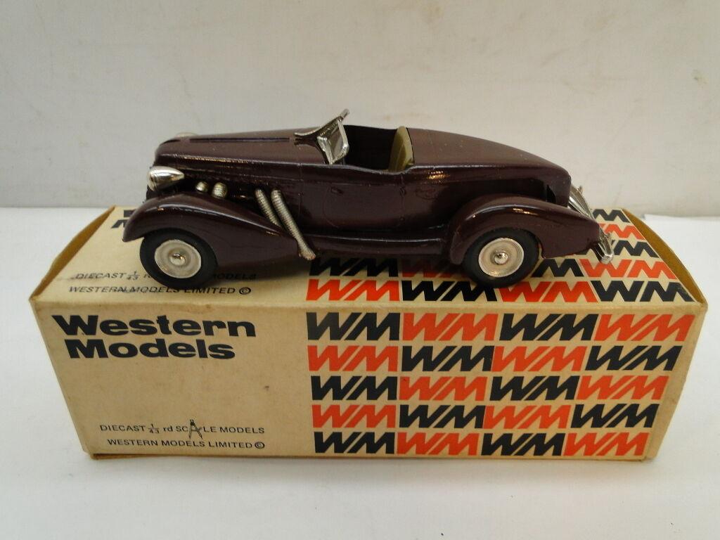 WESTERN MODELS 1 43 DIECAST CAR 1935 AUBURN SPEEDSTER 851 WML5 BOX CAR ENGLAND