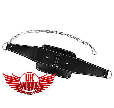Ingegnoso Regno Unito Warrior ® Cuoio Lavaggi Cintura Body Building Tuffo Peso Sollevamento Fitness Catena-