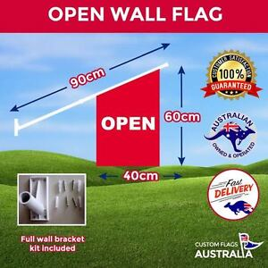 Open-Wall-Flag-Heavy-Duty-Double-Sided-Red-Open-Flag-With-Full-Kit