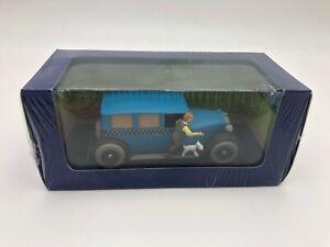 """Die Cast """" De Taxi Uit Kuifie IN Amerika Checker 1929 """" 1/43 Atlas Tintin"""