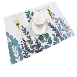 Plant-Table-Mat-PVC-Placemats-Insulation-Dinning-Bowl-Pad-Tableware-Mat-DB