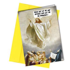 #1183 Rude Funny Christmas Card Jesus Wants a Pony Friend Cheeky Greeting